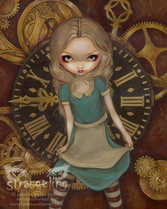 AliceInClockwork by Jasmine Becket-Griffith