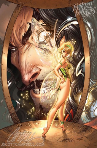 tinkerbell_and_captain_hook_by_j_scott_campbell