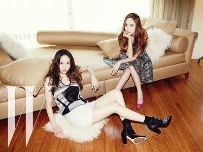 Jessica SNSD and f(x) Krystal - W Magazine June 2014 (10)