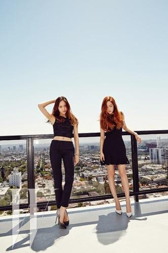 Jessica SNSD and f(x) Krystal - W Magazine June 2014 (4)