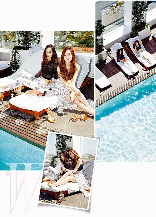 Jessica SNSD and f(x) Krystal - W Magazine June 2014