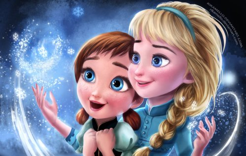 frozen_elsa_and_anna_by_rikamello